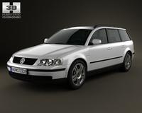 Volkswagen Passat (B5) variant 1997 3D Model