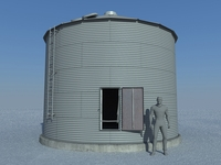 Old Grain Bin 3D Model
