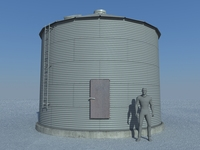 Old Sealed Grain Bin 3D Model
