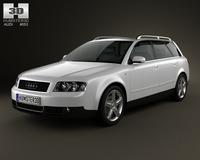Audi A4 (B6) avant 2002 3D Model