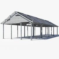 Pole Barn 3D Model