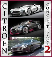 Citroen Concept pack 2 3D Model