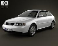 Audi A3 (8L) 3-door 2003 3D Model