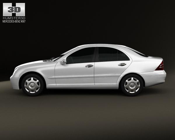 Mercedes benz c class w203 sedan 2005 3d model for 2005 mercedes benz c class coupe
