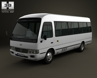 Toyota Coaster B50 2012 3D Model