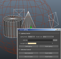 Creating Maya GUI for asset lighting