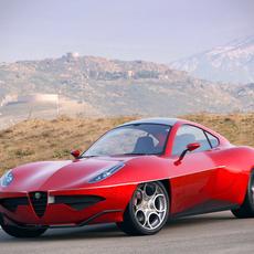 Alfa Romeo Disco Volante 2012 concept 3D Model