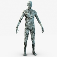 Stone golem guardian 3D Model