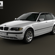 BMW 3 Series touring (E46) 2001 3D Model