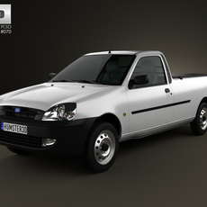 Ford Courier 2011 3D Model