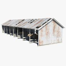 Livestock Shed 3D Model