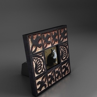 small stending photo frame 2 3D Model