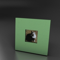green small standing photo frame 3D Model