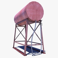 Fuel Barrel 3D Model