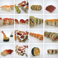 13 Sushi 3D Model