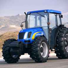 New Holland T4050 tractor 3D Model