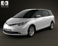 Toyota Previa 2012 3D Model
