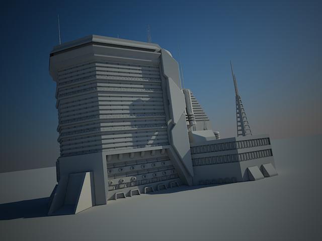 Sci Fi Building 15 3D Model