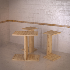 Duvivier Tandem table 3D Model