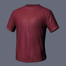 Color T-Shirt 3D Model