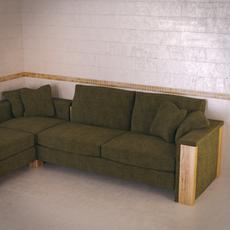 FrommHolz Montana corner sofa 3D Model