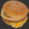 07 46 23 54 hamburger3dmodellowpolybigmacmcdonaldsscan wireframe 4