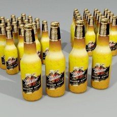 Miller Beer Bottle Lowpoly 3D Model