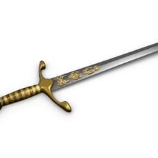 Decorated Sword Model 3D Model