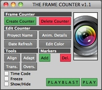 The Frame Counter for Maya 1.2.0 (maya script)