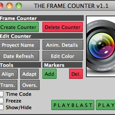 The Frame Counter 1.2.0 for Maya (maya script)
