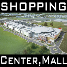 Mall, Shopping center, Retail Store 3D Model