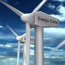 Wind Eolic Turbine 3D Model