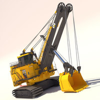 Rope Shovel 7495HF 3D Model