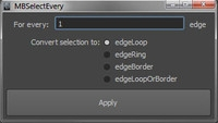 selectEveryNEdge 1.0.0 for Maya (maya script)