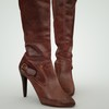 07 48 43 513 leather tall boots red black brown 3d model 2 4