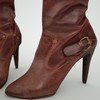07 48 43 907 leather tall boots red black brown 3d model 4 4