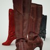 07 48 44 348 leather tall boots red black brown 3d model 6 4