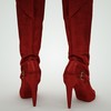 07 48 44 447 leather tall boots red black brown 3d model 7 4