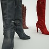 07 48 44 49 leather tall boots red black brown 3d model 5 4