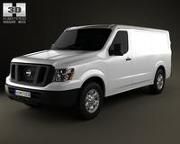 Nissan NV Cargo Van Standard Roof 2013 3D Model