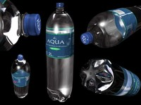 Bottle of Water 3D Model