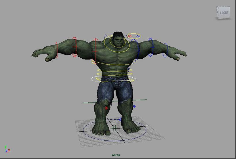 Hulk Rig for Maya
