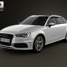 Audi A3 Sportback S-Line 2013 3D Model