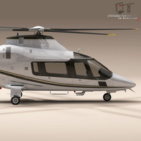 AW109 copter 3D Model