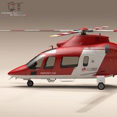 AW109 air ambulance 3D Model