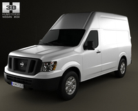 Nissan NV Cargo Van High Roof 2013 3D Model