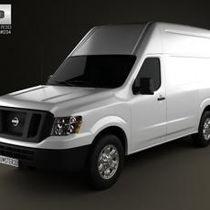 Nissan NV Cargo Van High Roof 2013 3D Model