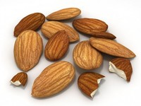 Almonds Unshelled 3D Model