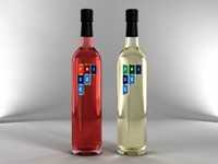 Bottles of Wine Frizze 3D Model