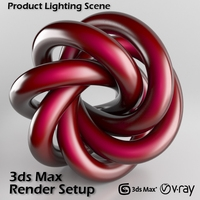 Professional Studio Scene Setup for 3ds Max & V-Ray 3D Model